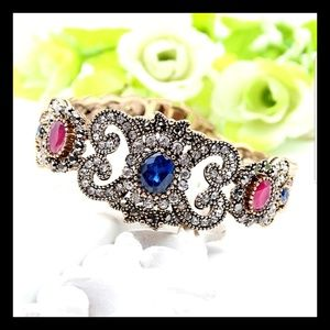 COMING SOON- JEWEL AND RHINESTONE VINTAGE BRACELET
